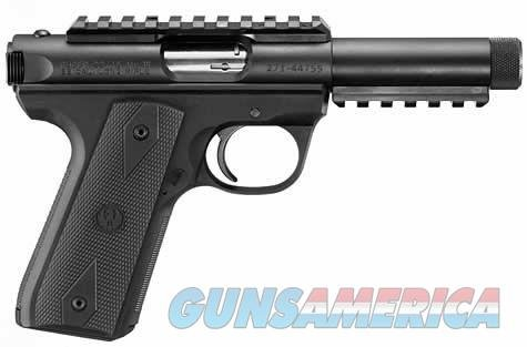Ruger 22/45 Threaded Barrel Pistol 10149, 22 Long Rifle, 4.5 in, Zytel Grip, Blue Finish, 10 Rd  Guns > Pistols > Ruger Semi-Auto Pistols > Mark I/II/III Family