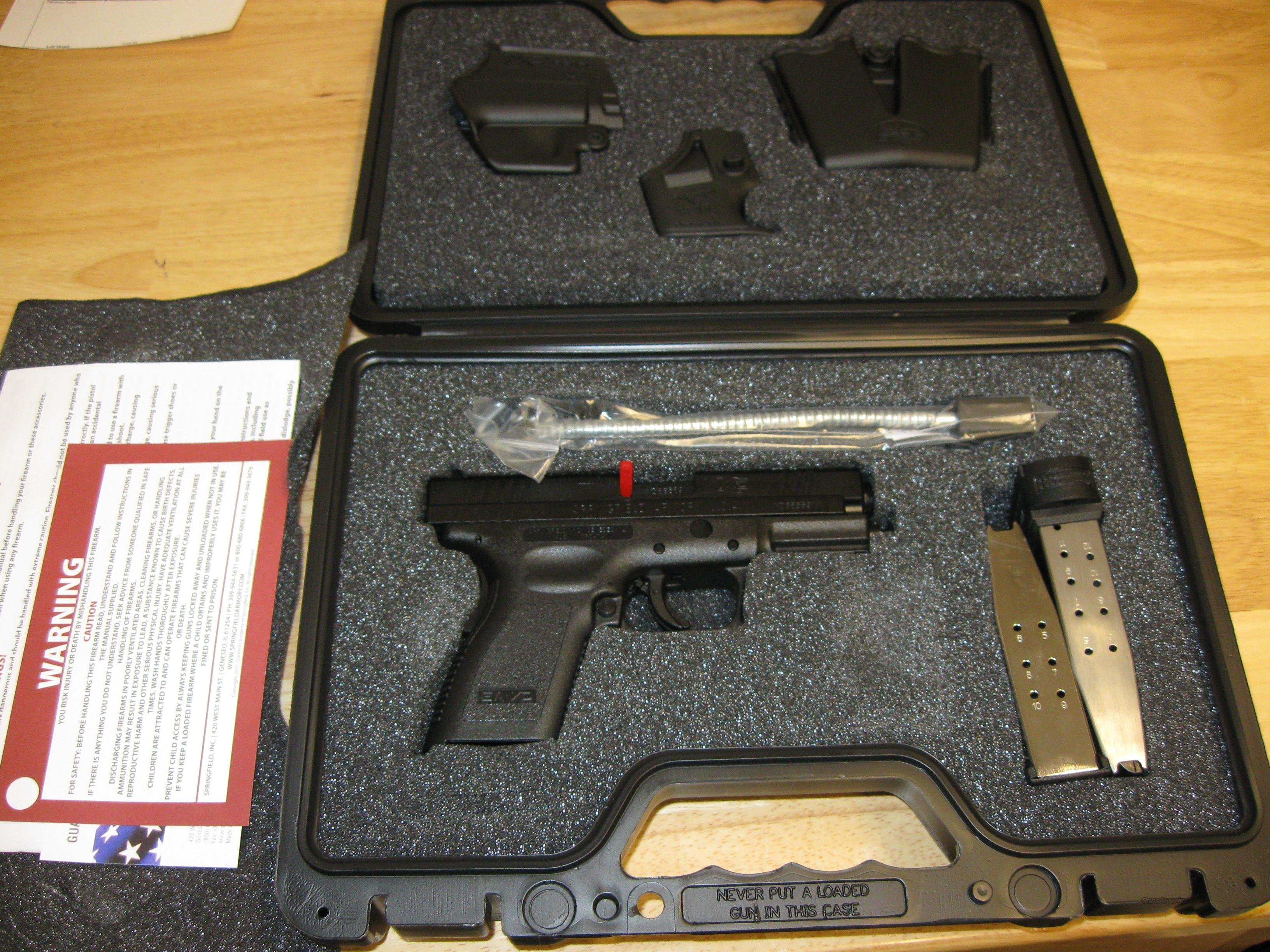 "Springfield XD Package XD9645HCSP06 Compact, 45 ACP, 4"", Checkered Polymer Grip, Black Finish, 10 Rd, 13 Rd(Grip Extension)  Guns > Pistols > Springfield Armory Pistols > XD (eXtreme Duty)"