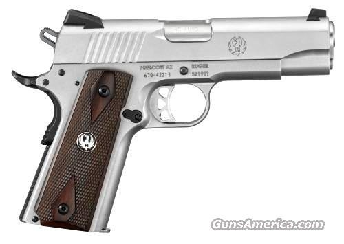 Ruger SR1911 Commander Pistol 6702, 45 ACP, 4.25 in, Wood Grip, Stainless Finish, 8 Rd  Guns > Pistols > Ruger Semi-Auto Pistols > SR9 & SR40