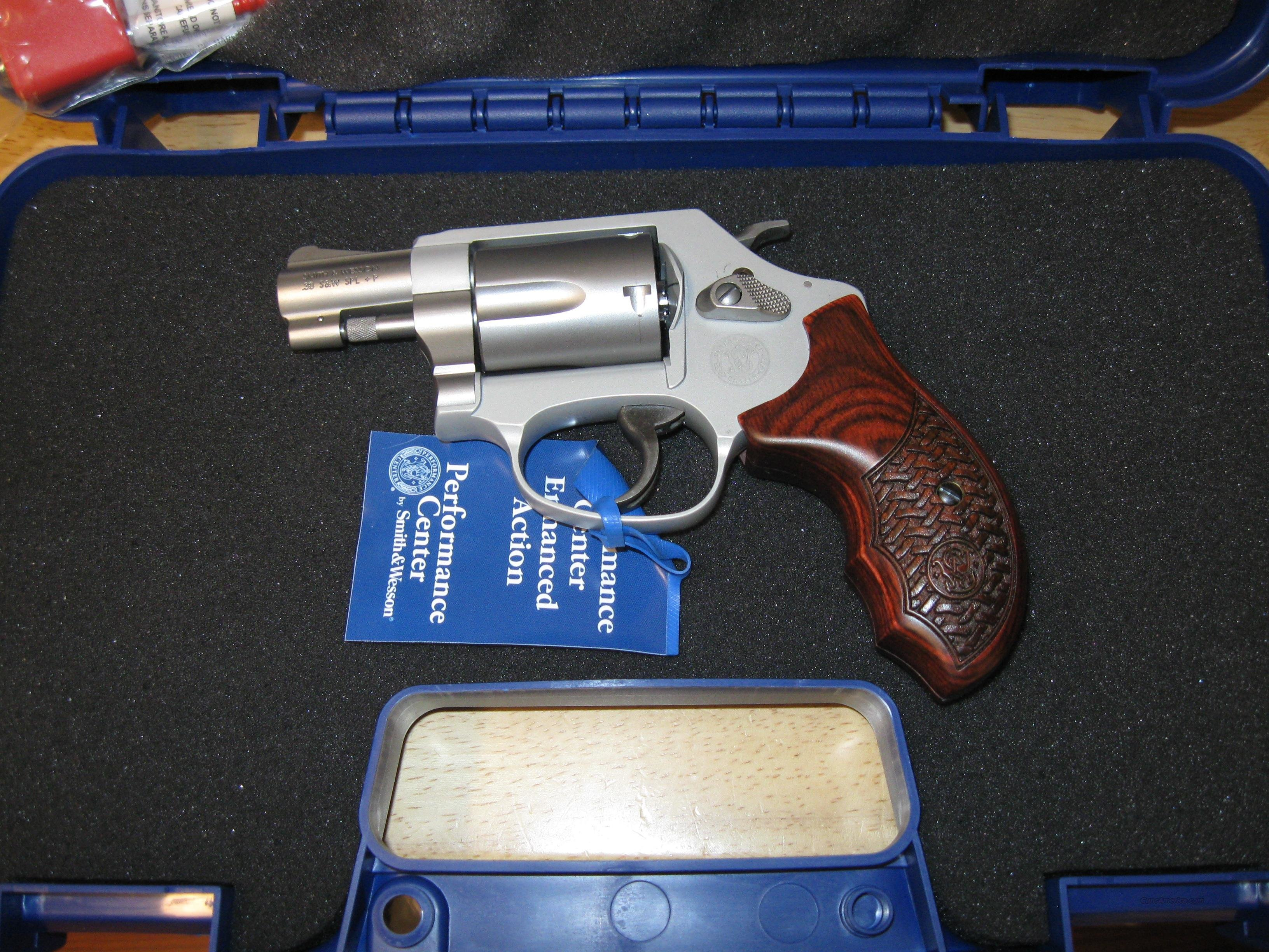 "Smith & Wesson 637 Performance Center Revolver 170349, 38 Special, 1-7/8"", Basketweave Wood Grips, Matte Silver Finish, TALO EXCLUSIVE  Guns > Pistols > Smith & Wesson Revolvers > Performance Center"