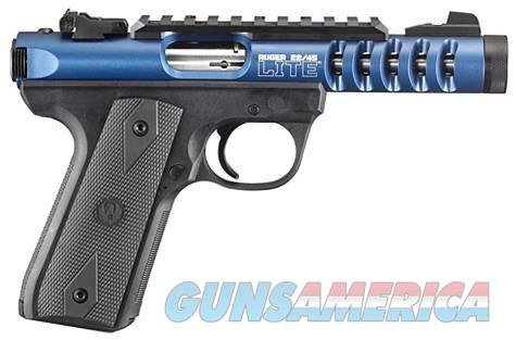 "Ruger 22/45 Lite Rimfire Pistol 3908, 22 LR, 4.4"" Threaded, Black Polymer Grip, Blue Anodized Finish, 10 Rd  Guns > Pistols > Ruger Semi-Auto Pistols > Mark I/II/III Family"