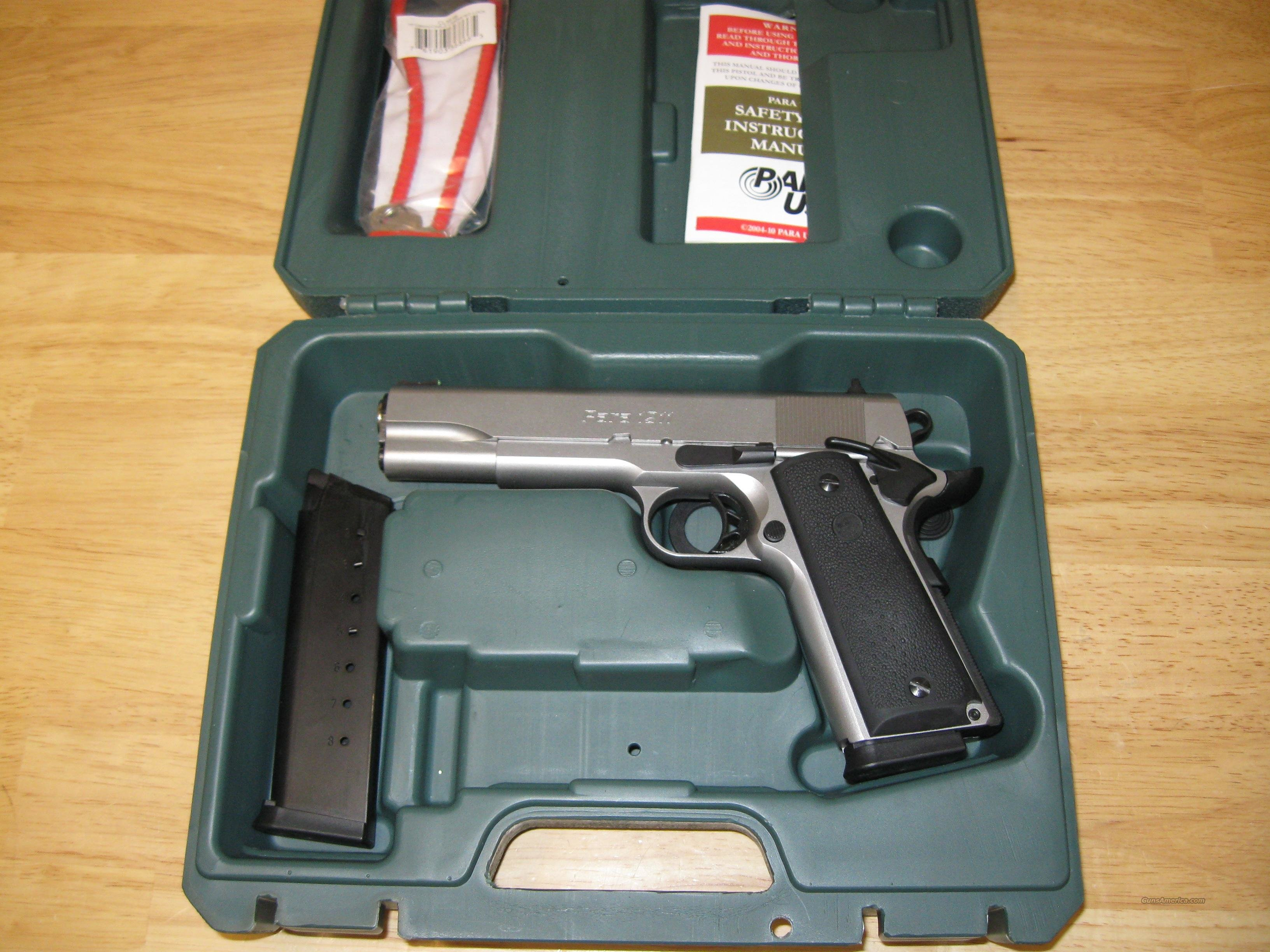 Para 1911 Expert Pistol, 45 ACP, 5 in, Checkered Black Grip, Stainless Finish, 8 Rd  Guns > Pistols > Para Ordnance Pistols