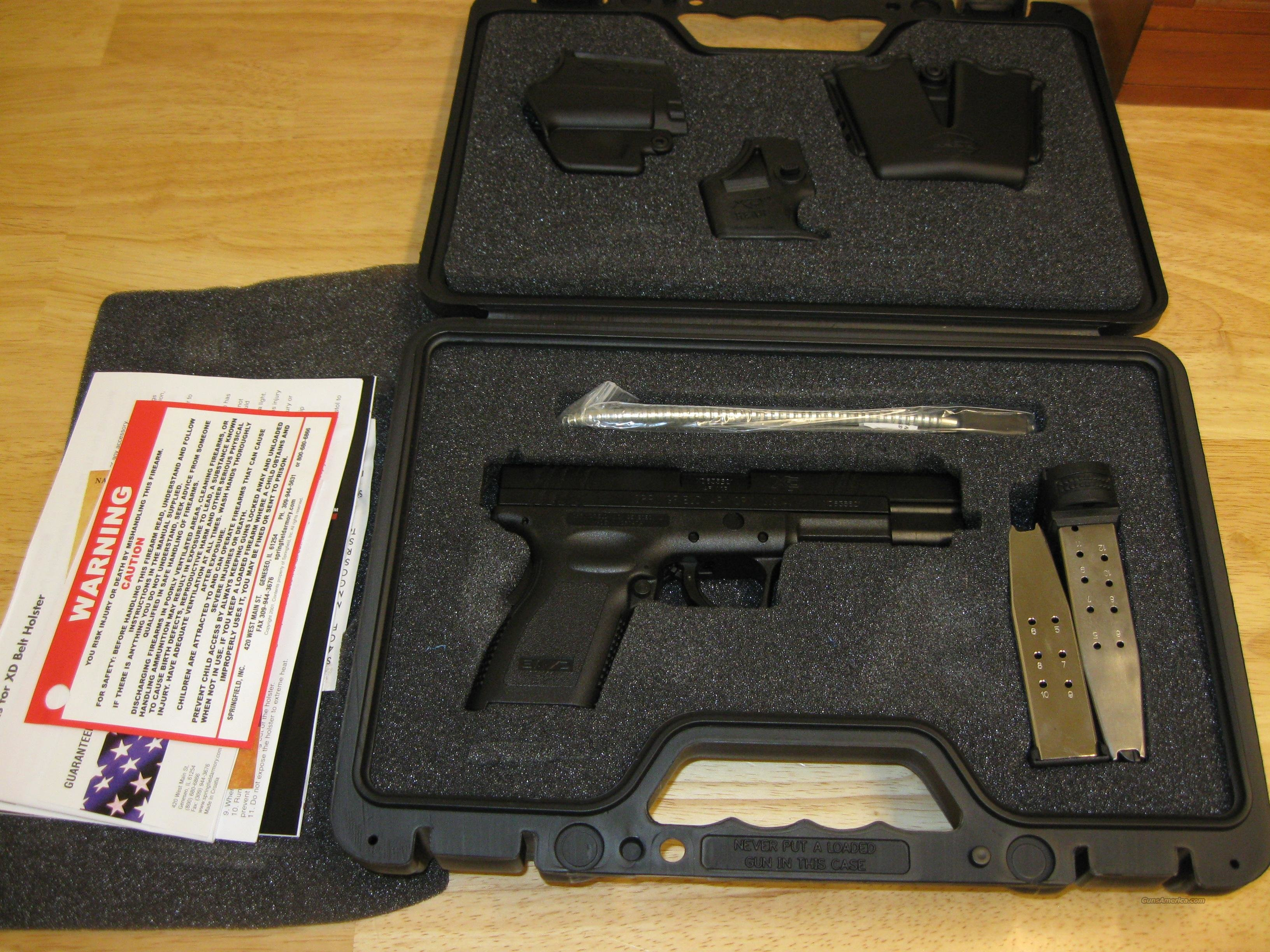 "Springfield Model XD Package XD9655HCSP06 Compact, 45 ACP, 5"", Polymer Grip, Black Finish, 10 Rd, 13 Rd(Grip Extension)  Guns > Pistols > Springfield Armory Pistols > XD (eXtreme Duty)"