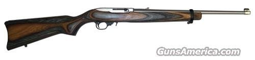 Ruger 10/22 Standard Rifle 1273, 22 Long Rifle, 18.5 in, Brown/Black Laminate Stock, Stainless Finish, 10 Rd  Guns > Rifles > Ruger Rifles > 10-22