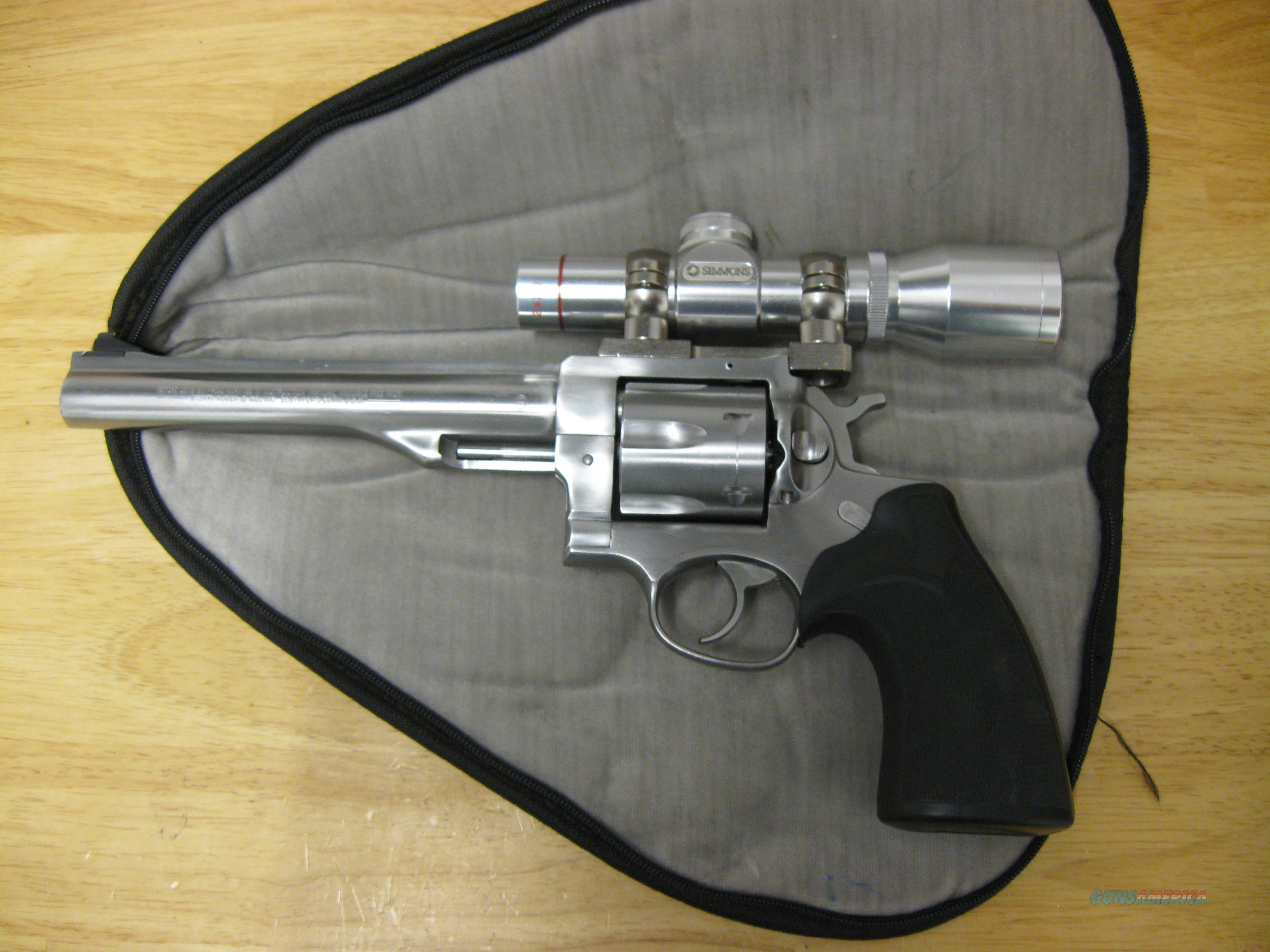 "Early 80's Ruger Redhawk .44 Mag, 7.5"" with 2x20 Simmons Scope  Guns > Pistols > Ruger Double Action Revolver > Redhawk Type"