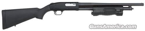 Mossberg 500 Special Purpose Pump Shotgun PERSUADER 50403, 12 Gauge, 18.5 in, 3 in Chmbr, Black Synthetic Stock, TAC LIGHT  Guns > Shotguns > Mossberg Shotguns > Pump > Tactical