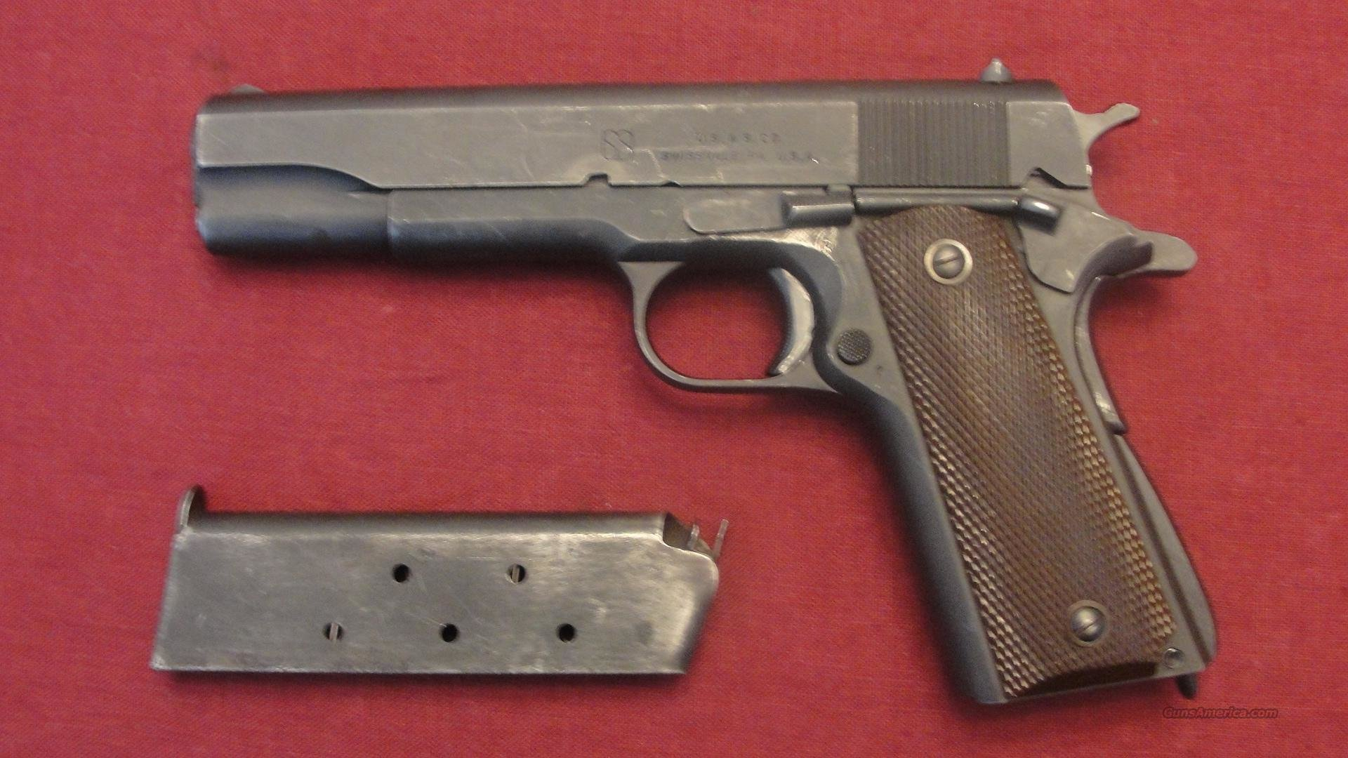COLT WWII 1943 1911A1 Union Switch & Signal US&S ORIGINAL  Guns > Pistols > Military Misc. Pistols US > 1911 Pattern