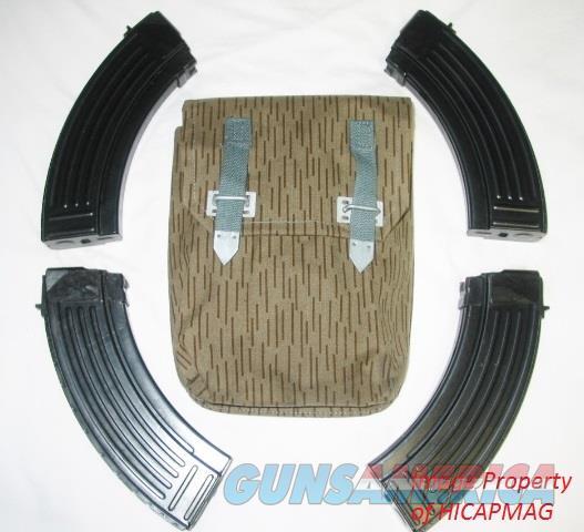 4 30rd AK-47 SERBIAN (Yugo) Steel MAGAZINE MAG AK47  + Pouch NEW AK47 AKM MAK90  Non-Guns > Magazines & Clips > Rifle Magazines > AK Family