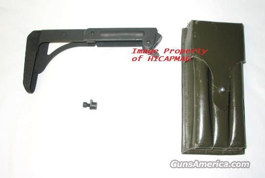 NEW IMI UZI FOLDING STOCK w/Screw & Nut  + 3 mag pouch  NORINCO-VECTOR       Non-Guns > Magazines & Clips > Subgun Magazines > Clips > Other