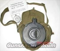 AK-47 75rd Drum Magazine Mag with Pouch + Manual AK47 AK 47 AKM MAK 90   7.62X39  Non-Guns > Magazines & Clips > Rifle Magazines > AK Family