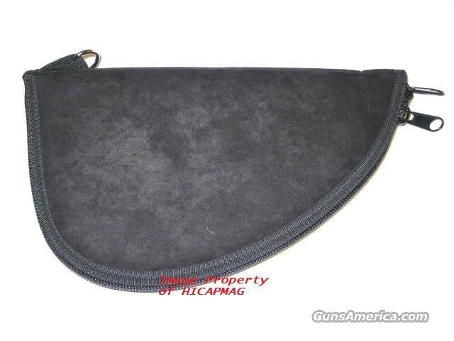 Gun Rug Pistol Case Black Suede for Colt / S&W / Glock and extra Magazine Mag Etc  Non-Guns > Gun Cases