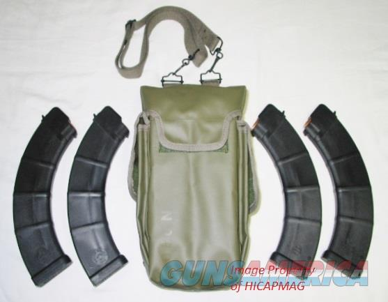 4-48rd AK47 Magazine Mag w / Shoulder Pouch AK-47 AKM MAK90  Non-Guns > Magazines & Clips > Rifle Magazines > AK Family