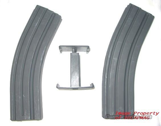 2 AR15 223 / 5.56 Black Stainless Steel  40 rd Magazine Mag AR-15 + Clamp  Non-Guns > Magazines & Clips > Rifle Magazines > AR-15 Type