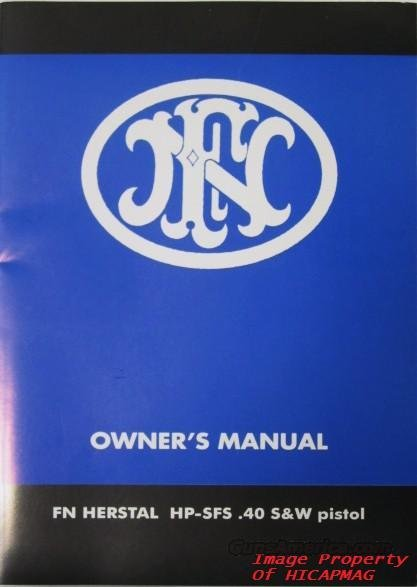 Factory Original FN BROWNING .40 HI POWER MANUAL for Gun & Magazine HIGH POWER/ HP  Non-Guns > Manuals - Print