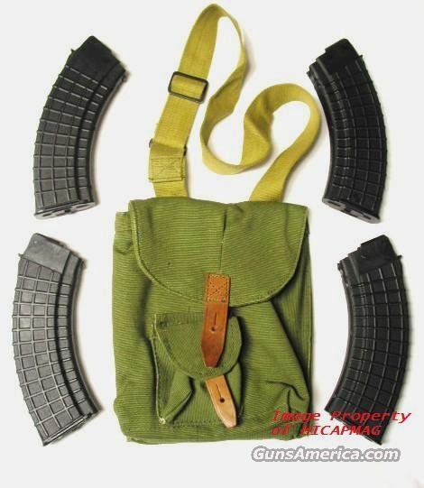 4 AK47 Preban BULGARIAN 30RD CIRCLE 10 WAFFLE MAGAZINE/MAG/MAGS AK 47 WITH SHOULDER POUCH  Non-Guns > Magazines & Clips > Rifle Magazines > AK Family