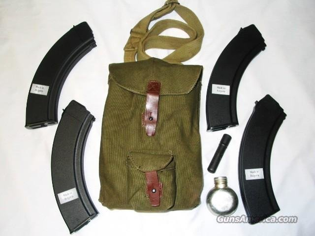AK 47 (4)  NEW 40RD BULGARIAN MAGAZINES COMPLETE WITH 4 MAG POUCH AND ACCESSORIES NEW AK47 MAGAZINE  Non-Guns > Magazines & Clips > Rifle Magazines > AK Family