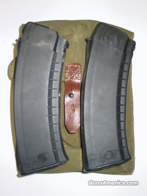 AK 74 (2) NEW 30rd 5.45X39 BULGARIAN POLYMER MAGAZINES  with MAG POUCH - PRE BAN AK74 MAGAZINE MAGS  Non-Guns > Magazines & Clips > Rifle Magazines > AK Family