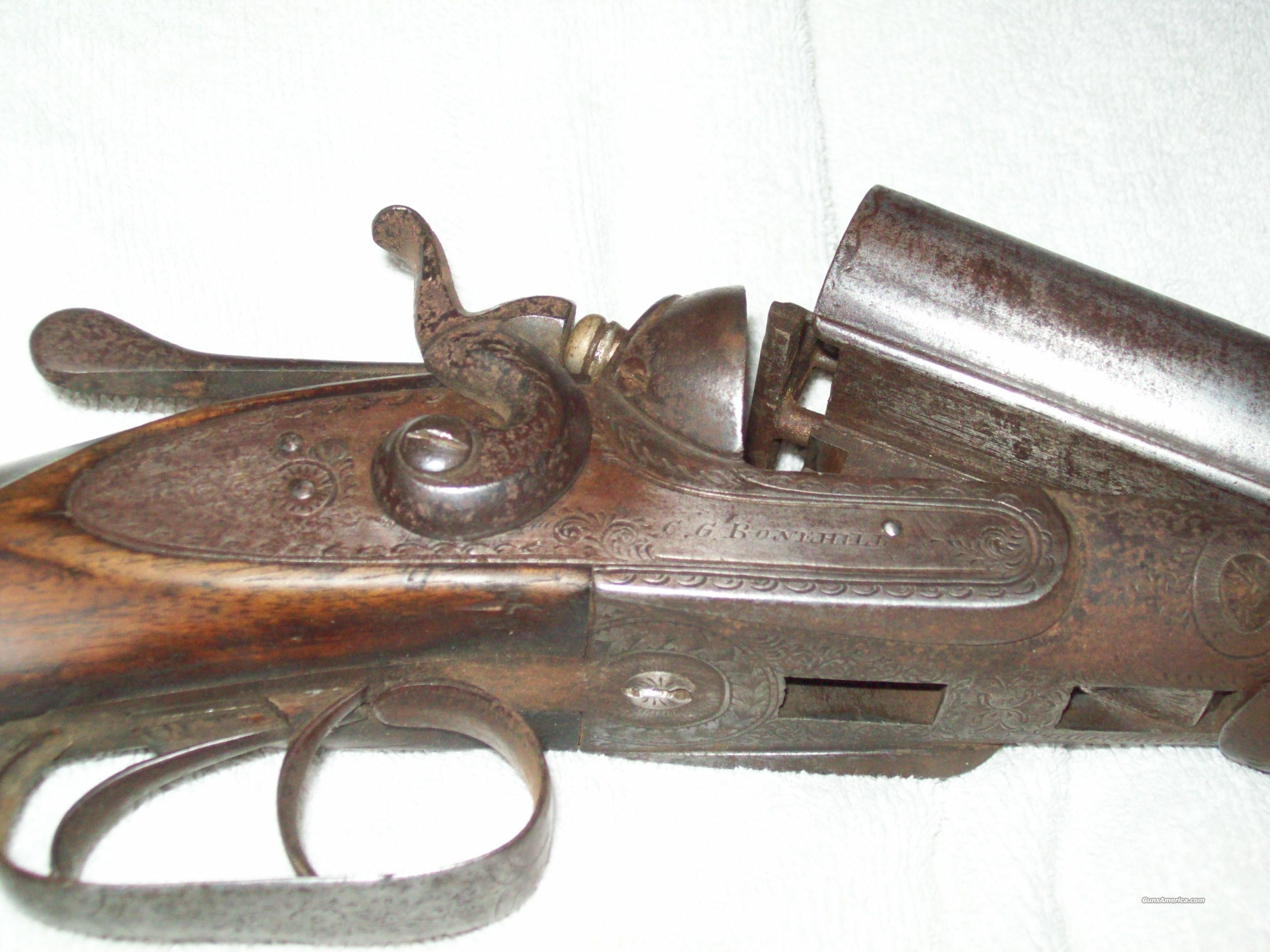 C.G. Bonehill double hammer shotgun  Guns > Shotguns > Antique (Pre-1899) Shotguns - Misc.