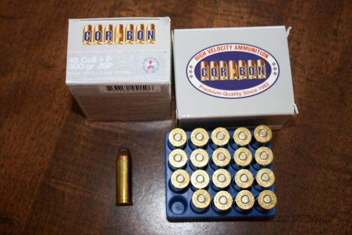 CORBON .45 LC +P 300 gr. JSP  Non-Guns > Ammunition