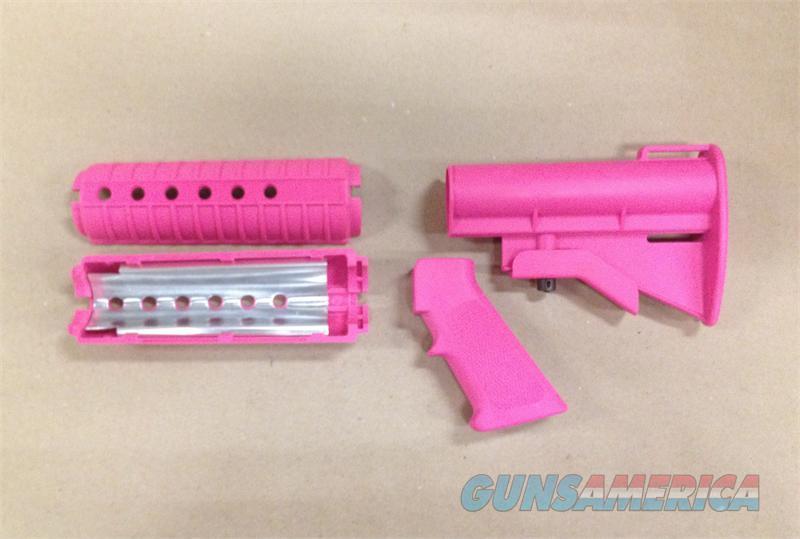 AR15/M16 M4 Pink Stock Set  Non-Guns > Gun Parts > M16-AR15 > Upper Only