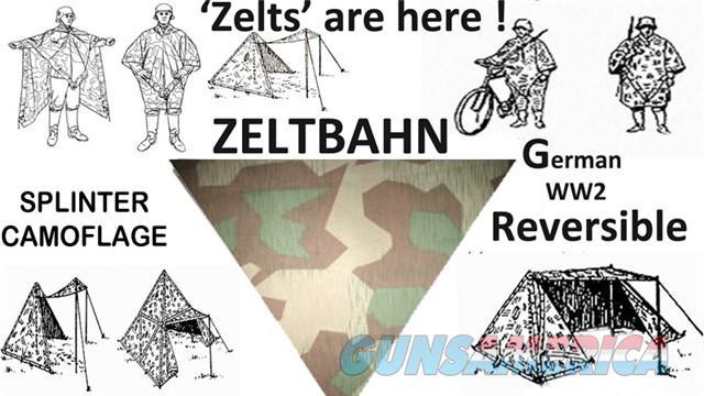 Zeltbahn, Splinter  Non-Guns > Hunting Clothing and Equipment > Tents