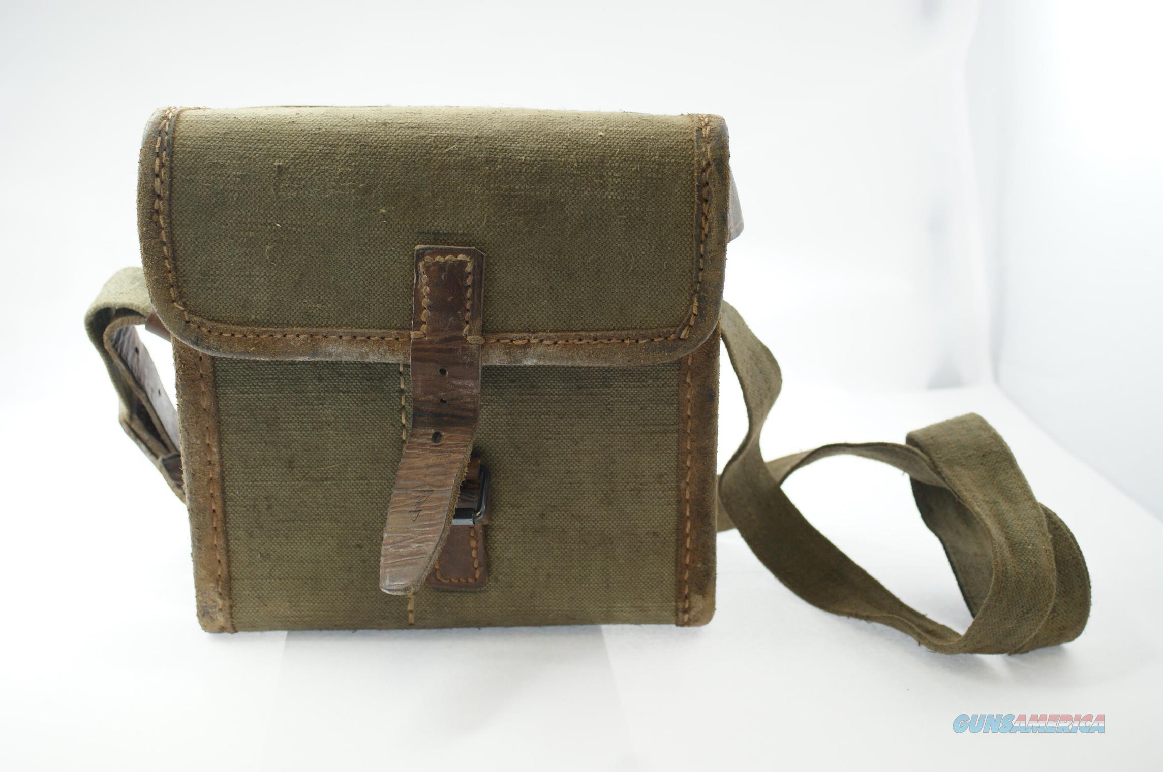 Vintage French Military Shoulder Carry/ Ammo Bag  Non-Guns > Military > Memorabilia