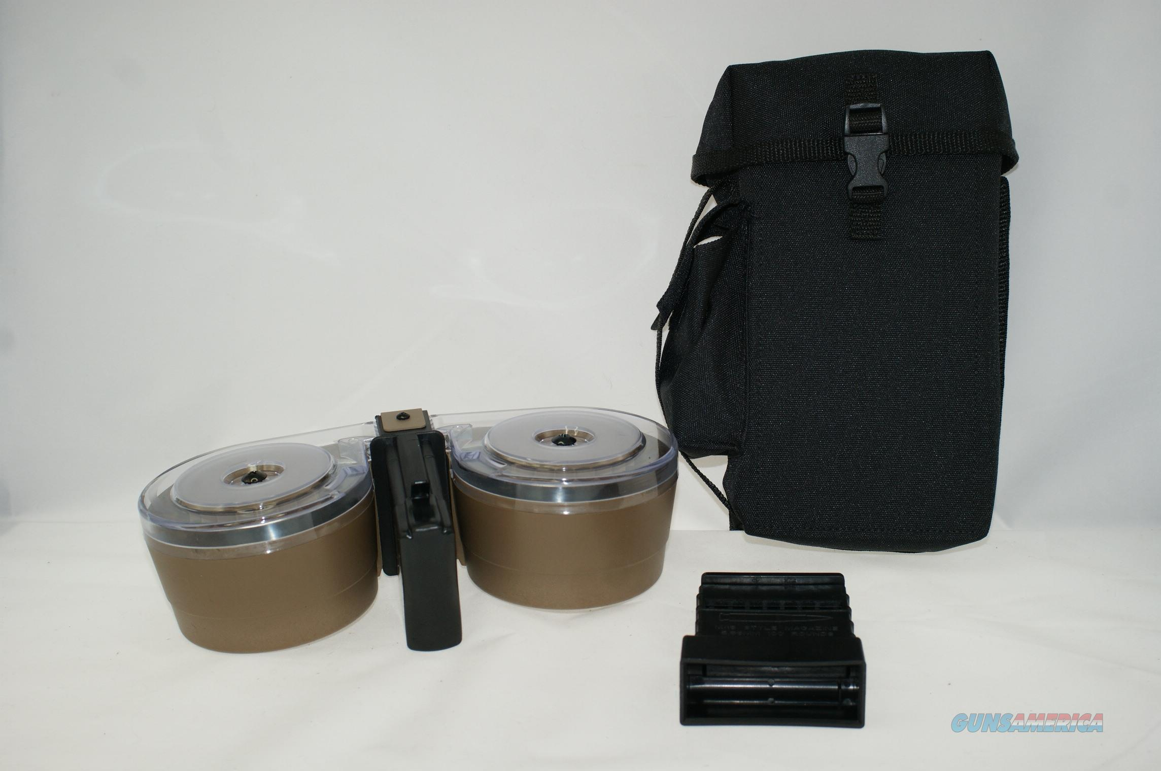 AR15/M16 100rd Drum with Bag & Loader TAN  Non-Guns > Magazines & Clips > Rifle Magazines > AR-15 Type