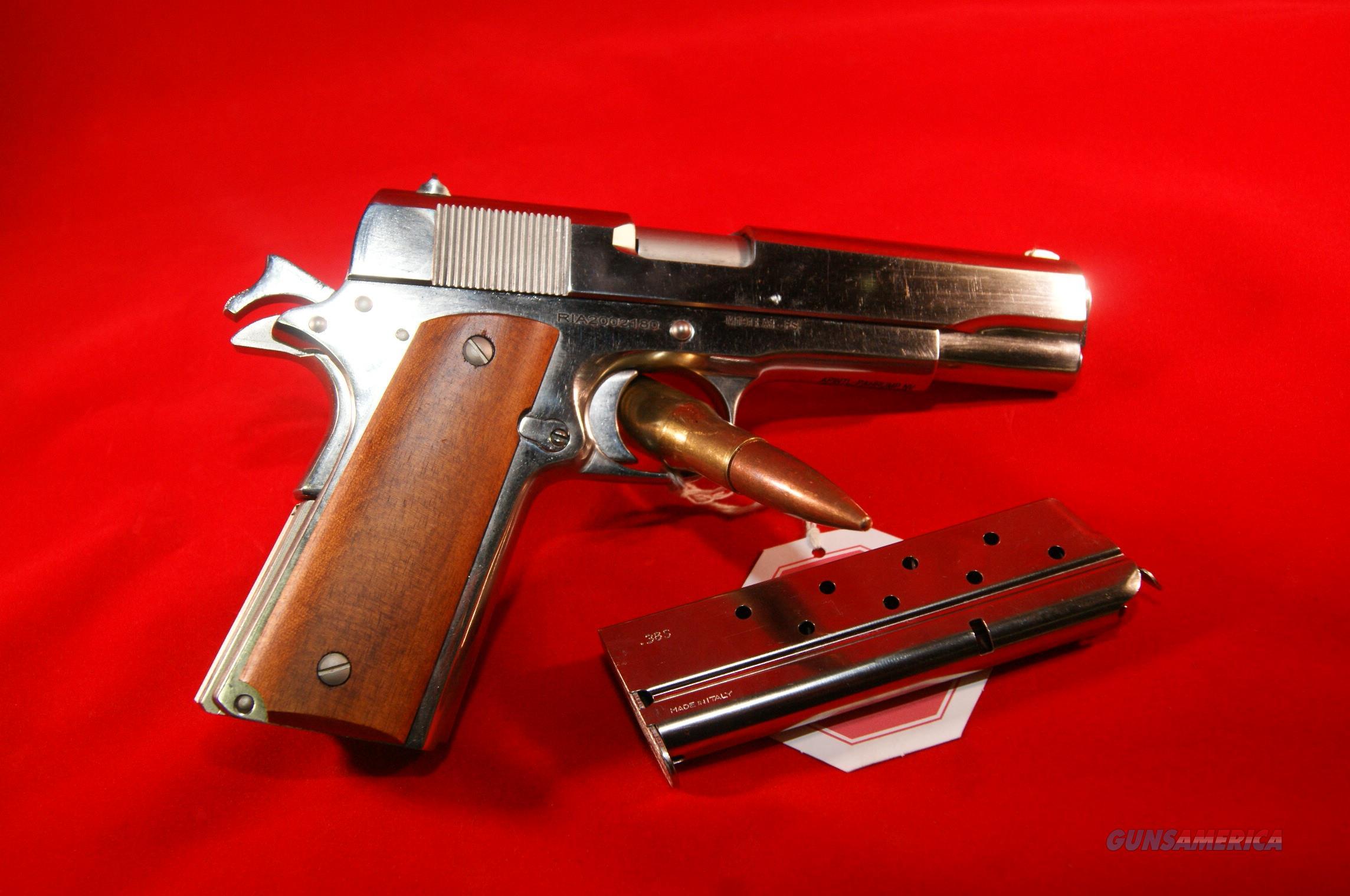 Rock Island 1911-A1 GI Standard FS Nickel 38 Super & Free Shipping!  Guns > Pistols > 1911 Pistol Copies (non-Colt)