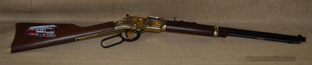 H004FM Henry Goldenboy Firefighter Tribute Rifle - 22 S/L/LR  Guns > Rifles > Henry Rifle Company