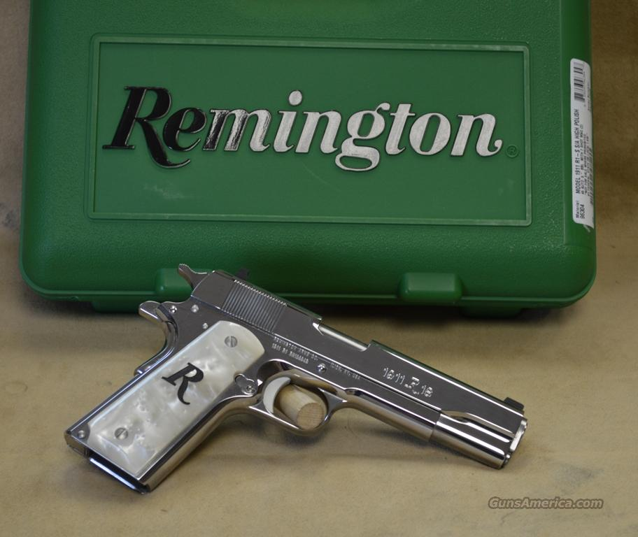REBATE 96304 Remington 1911 R1 Polished Stainless/White Pearl Exclusive - 45 ACP  Guns > Pistols > Remington Pistols - Modern