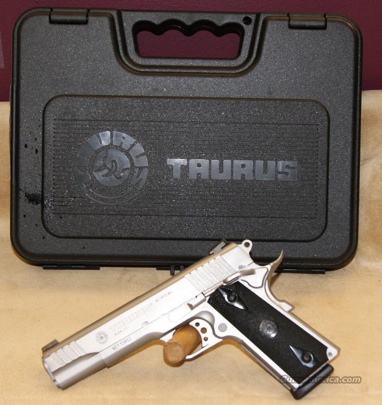 1191109 Taurus 1911 Stainless/ Black Grip - 45 ACP  Guns > Pistols > Taurus Pistols > Semi Auto Pistols > Steel Frame
