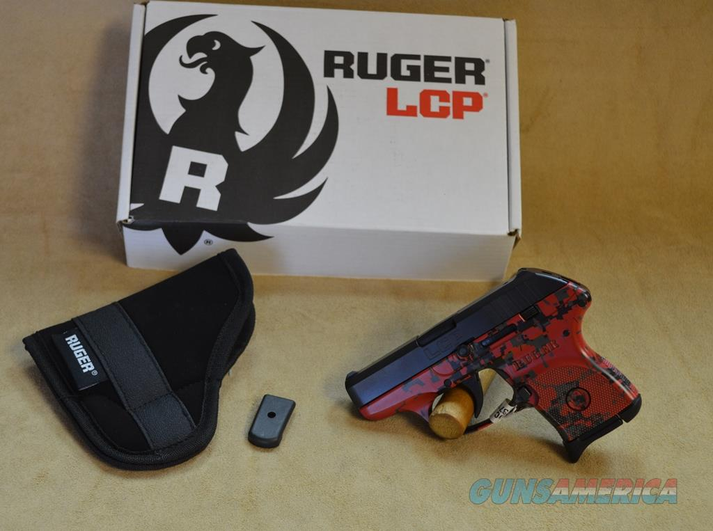 3749 Ruger LCP Red Digi Camo Exclusive - 380 ACP  Guns > Pistols > Ruger Semi-Auto Pistols > LCP