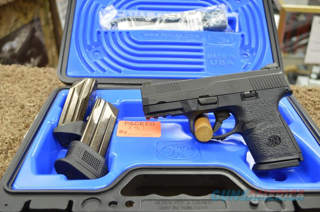 FN FNS9C - 9mm - Used with box and papers  Guns > Pistols > FNH - Fabrique Nationale (FN) Pistols > FNS