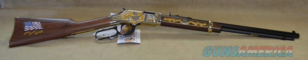 H004MS2 Henry Goldenboy Military Service Edition Tribute 2nd Edition - 22 LR  Guns > Rifles > Henry Rifle Company