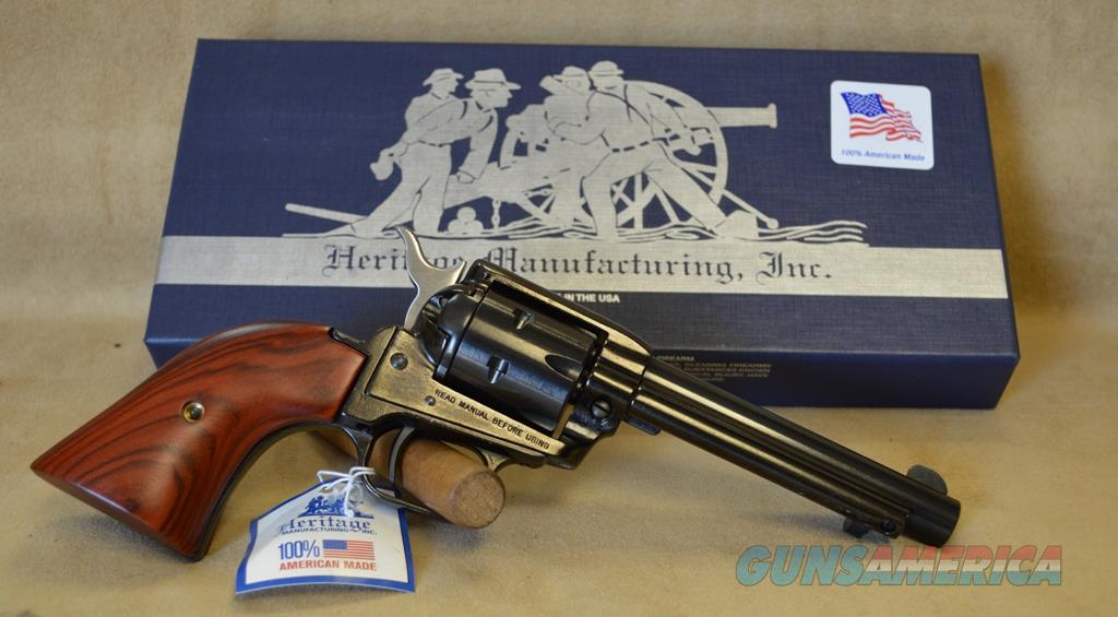 "RR22B4 Heritage Rough Rider 4.75"" Blued/Cocobollo - 22 LR  Guns > Pistols > Heritage"