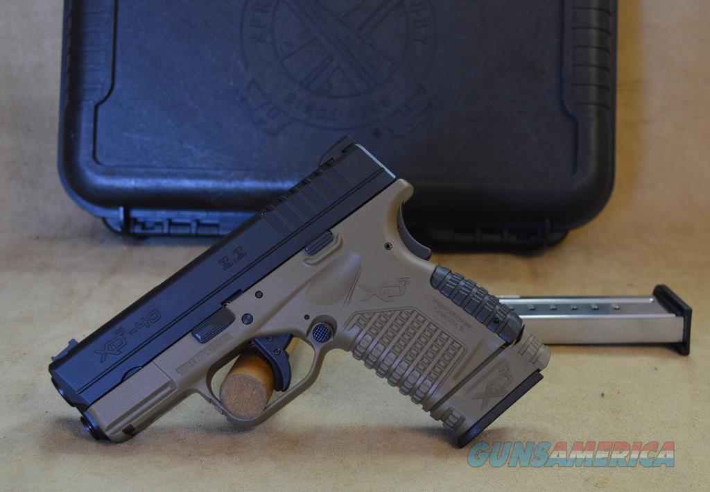 "XDS93340DEE Springfield XDS 3.3"" FDE - 40 S&W   Guns > Pistols > Springfield Armory Pistols > XD-S"