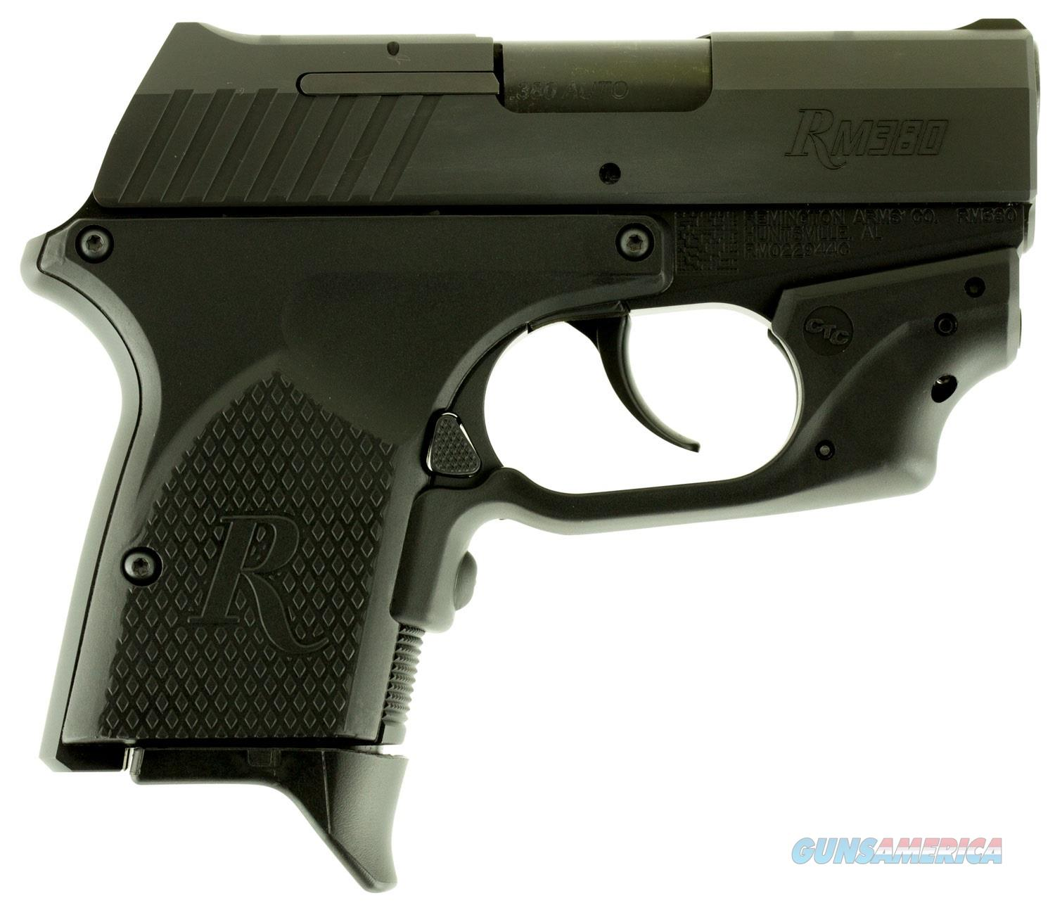 "96462 Remington RM380 Micro Crimson Trace DAO 380 ACP 2.9"" FS w/Laser 6+1 Black Poly Grip Black  Guns > Pistols > Remington Pistols - Modern > RM380"