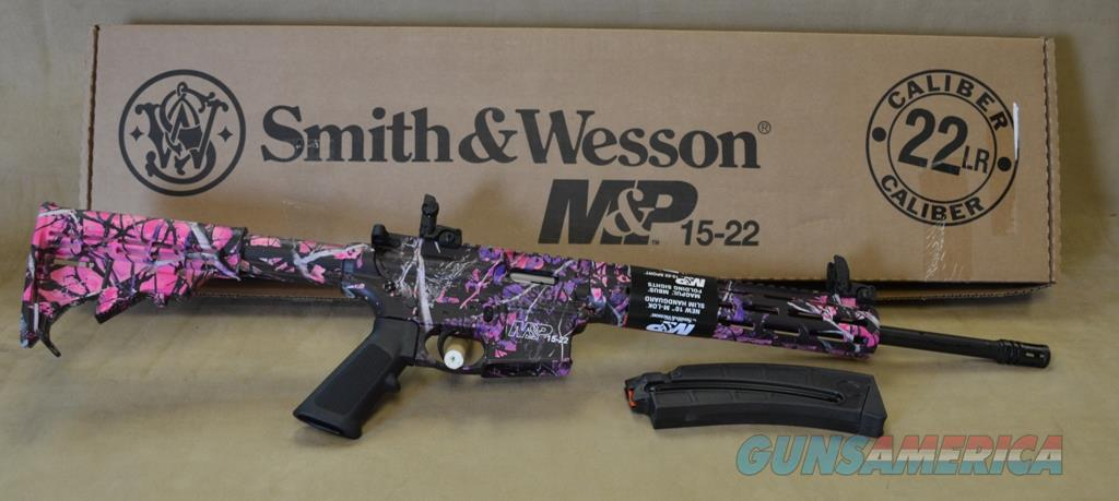 INVENTORY REDUCTION SALE 10212 Smith & Wesson M&P 15-22 Muddy Girl - 22 LR  Guns > Rifles > Smith & Wesson Rifles > M&P