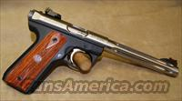 Ruger 22/45 Hunter Stainless/Cocobolo Grips - 22 LR  Guns > Pistols > Ruger Semi-Auto Pistols > Mark I & II Family