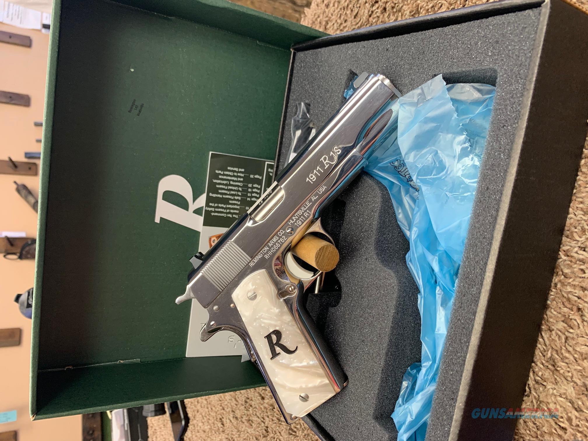 96304 Remington 1911 R1 Polished Stainless/White Pearl Exclusive - 45 ACP  Guns > Pistols > Remington Pistols - Modern