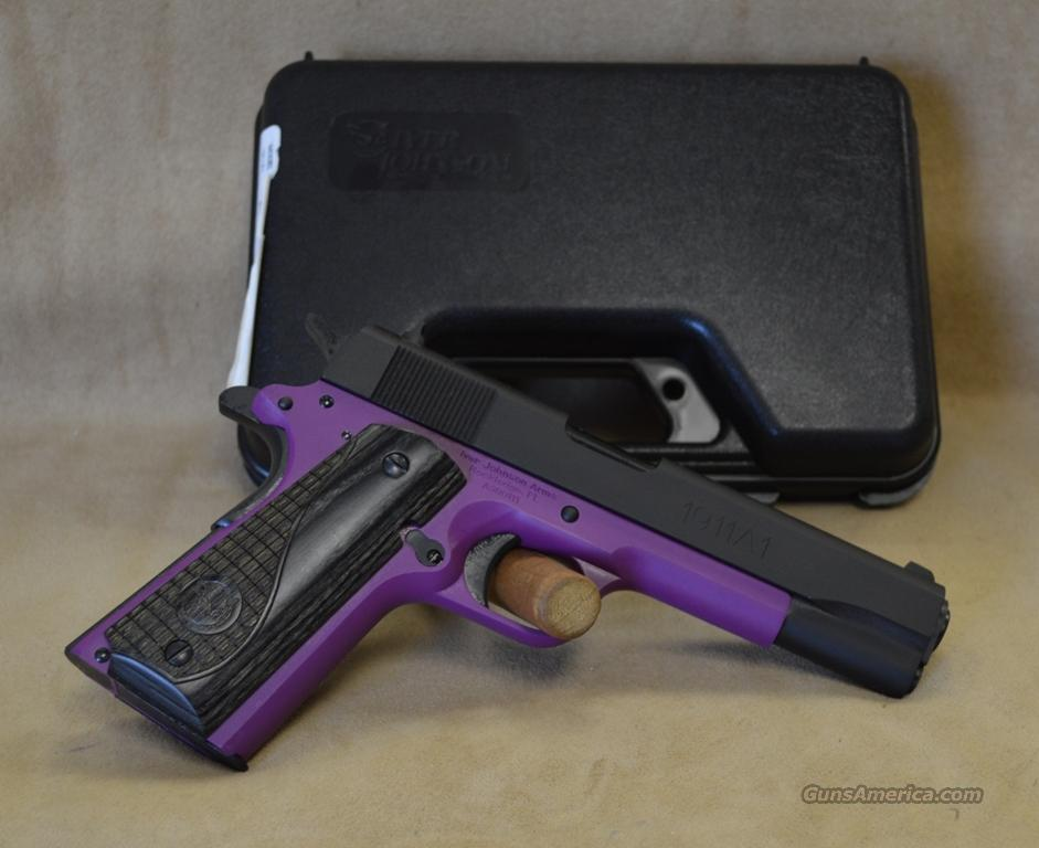IJ22 Iver Johnson 1911 A1 Standard Lavender - 9mm  Guns > Pistols > Iver Johnson Pistols