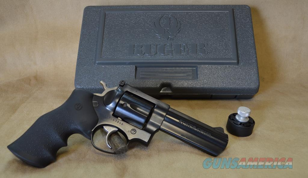 "1702 Ruger GP100 4.2"" Blued - 357 Mag - As New in box with speedloader  Guns > Pistols > Ruger Double Action Revolver > GP100"
