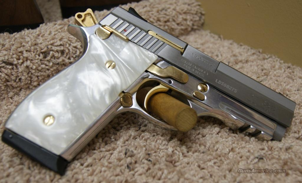 1038049PRL Taurus PT38S Stainless/White Pearl/Gold - 38 Super  Guns > Pistols > Taurus Pistols/Revolvers > Pistols > Steel Frame