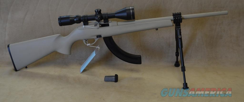 SALE Remington 597 Package - Tan Powder Coat - 22 LR - Used  Guns > Rifles > Remington Rifles - Modern > .22 Rimfire Models