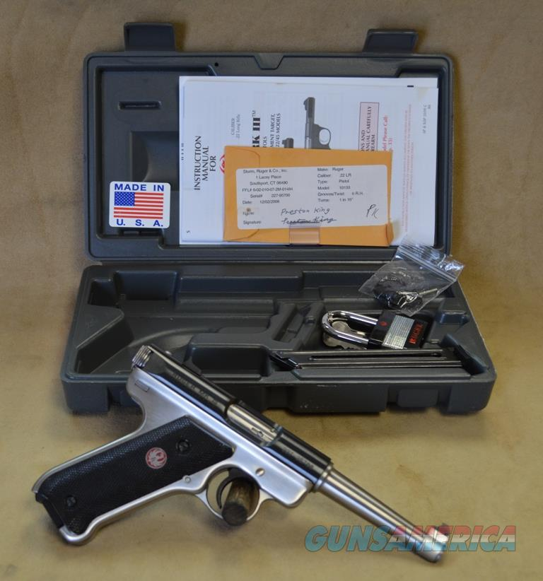 10133 Ruger MKIII 2tone - 22 LR - As New in Box - Consignment  Guns > Pistols > Ruger Semi-Auto Pistols > Mark I/II/III Family