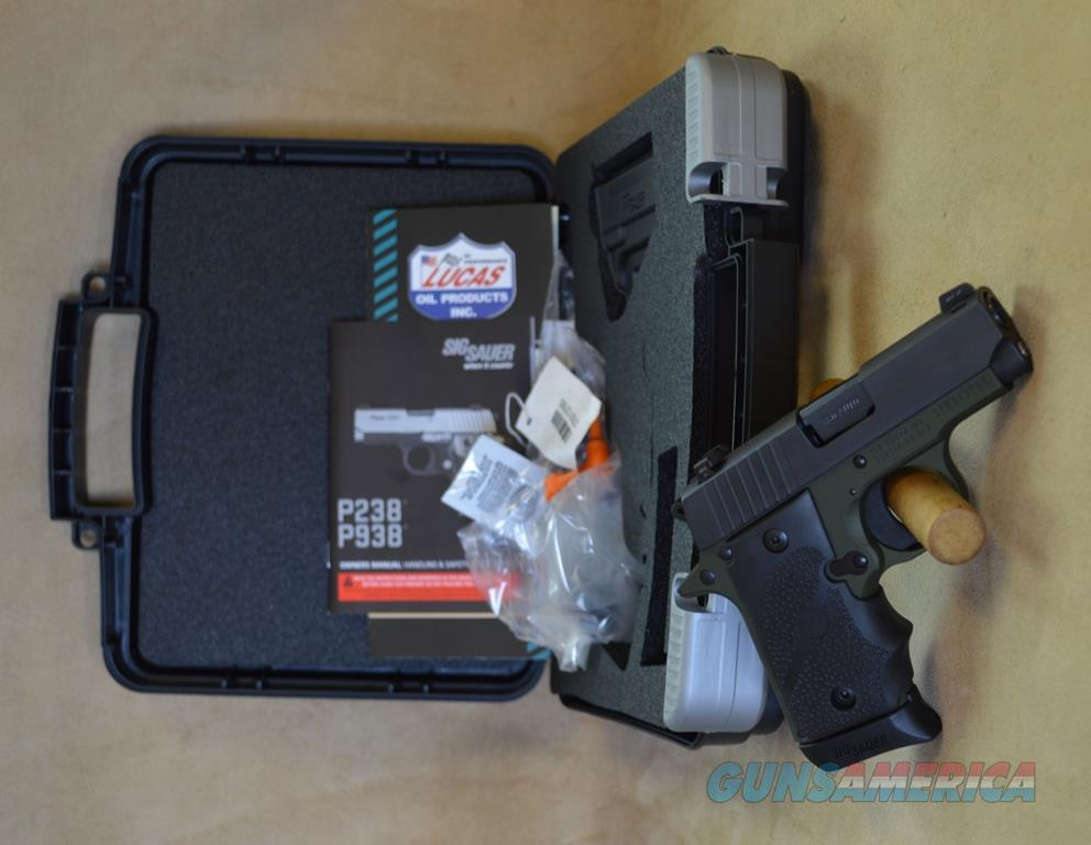 238380AGF Sig Sauer P238 Army Green - 380 ACP - Talo Exclusive  Guns > Pistols > Sig - Sauer/Sigarms Pistols > P238
