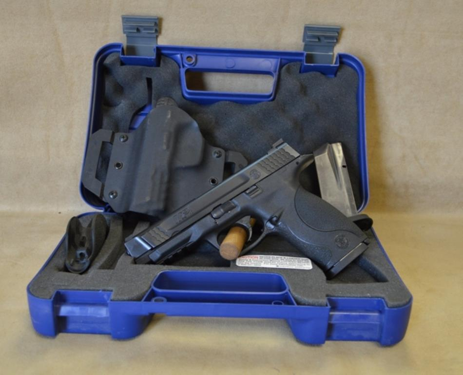 SALE Smith & Wesson M&P45 Full Size set up for LEFT HAND - 45 ACP - Used, with box and papers, holster  Guns > Pistols > Smith & Wesson Pistols - Autos > Polymer Frame