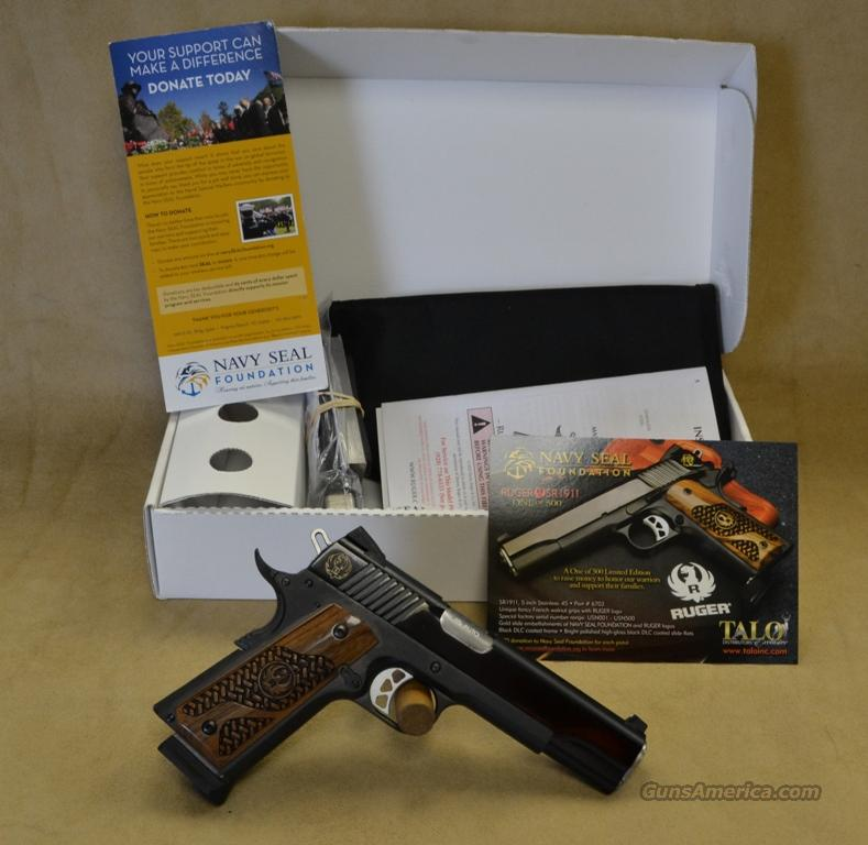 6703 Ruger 1911 Talo Exclusive Navy Seals Edition - 1/500  (#333) - 45 ACP  Guns > Pistols > Ruger Semi-Auto Pistols > P-Series