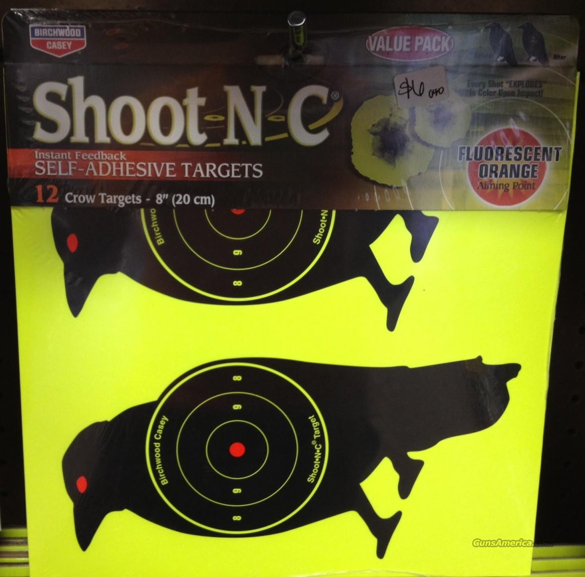 "Shoot-N-C - 8"" Crow Targets - 12 pack  Non-Guns > Targets > Paper Targets > Hit Responsive"