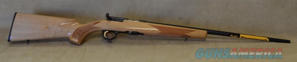 SALE 0252162a04 Browning T-Bolt Sporter Grade 1 Maple - 22 Mag  Guns > Rifles > Browning Rifles > Bolt Action > Hunting > Blue